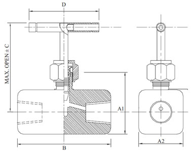 high pressure needle valves  needle valve   female x female high    high pressure needle valve diagram
